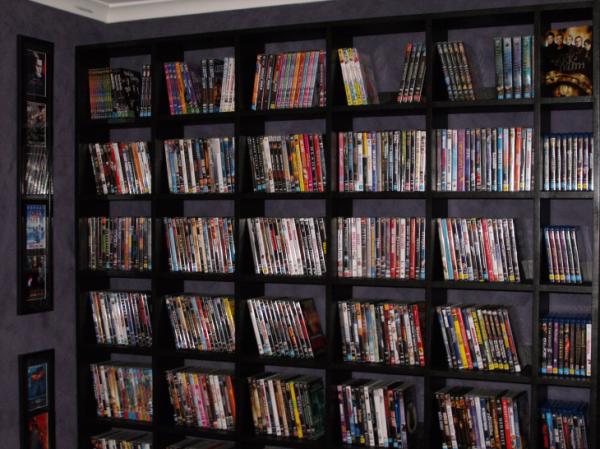 Finished DVD Shelves